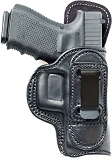 Tuckable (IWB) Leather Holster for Kahr CW40, PM40, MK40. Inside The Pants Holster for Tuck in Shirt Conceal Carry.