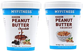 MYFITNESS Chocolate Peanut Butter 510g + MYFITNESS Original Peanut Butter Crunchy 510g
