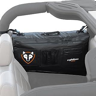 Rightline Gear 100J74-B Black Side Storage Bag for Jeep Wrangler JK (2-Door), Black