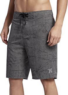 New Hurley Men's Phantom Jjf Maps Heather Boardshort Polyester Spandex Green
