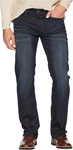 Six-X Slim Straight Jeans in Coated and Sandblasted