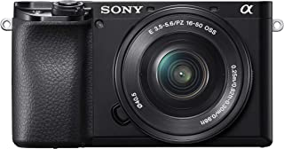 Sony Alpha A6100 Mirrorless Camera with 16-50mm Power Zoom Lens | ILCE 6100L with SELP1650 Lens | 24.2MP | Exmor CMOS Sensor | Black
