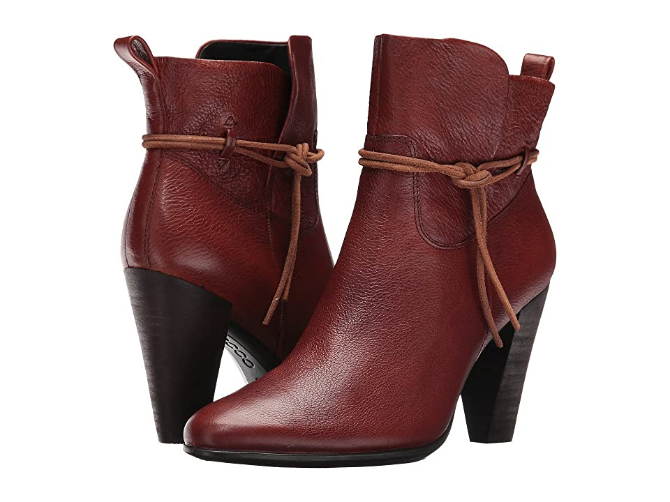 ECCO Shape 75 Ankle Boot (Cognac Cow Leather) Women