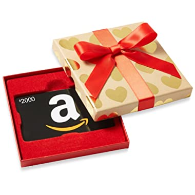 Amazon.com Gift Card in Gold Hearts Box