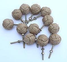 12 Knotty Deurknoppen - Nautische lade trekt - Jute Rope Lade trekt S