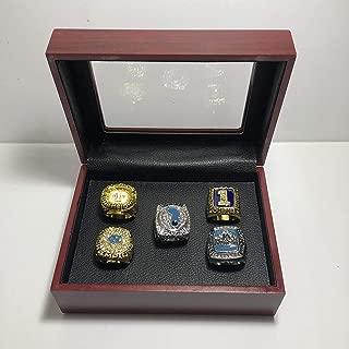Set of 5 North Carolina Tar Heels NCAA Tournament Championship Replica Rings W/Box- Various Sizes Gold & Silver Collectible USA SHIPPER (1982, 1993, 2005, 2009, 2017)