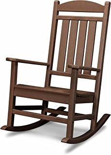 POLYWOOD R100MA Presidential Outdoor Rocking Chair, Mahogany