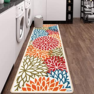 HEBE Medallion Floral Area Runner Rug 2'x6'Non Skid Washable Rug Runner for Laundry Room Kitchen Floor Hallways Accent Dis...