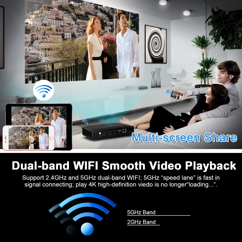 Tenswall Portátil Videoproyector, DLP Proyector 220ANSI Lúmenes de Cine en  Casa Soporte 220P/ 220K/ 220D/OS Android220.20/ Touchpad Compatible con Fire TV