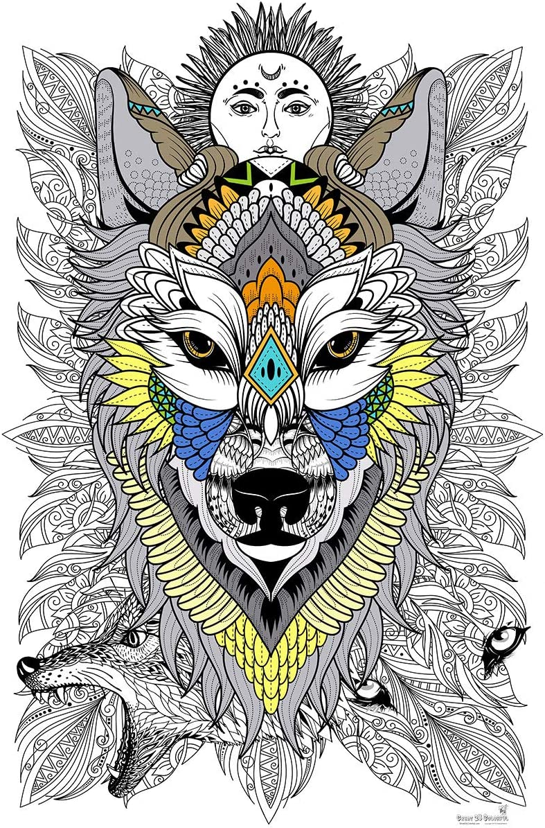 Great2bColorful Coloring 1 year warranty Poster 3 Sizes~2 Timb Paper - Choices Max 68% OFF