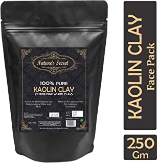 Nature's Secret White Light Kaolin Clay Powder For Skin Face Mask - 250 gm