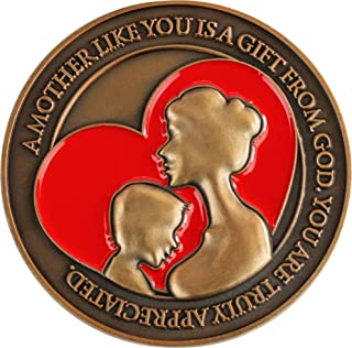 Mothers Coin, I Love You Mom Token of Appreciation, Gift for Mom, Mother's Day or Birthday Gifts for Mom from Son, Daughte...