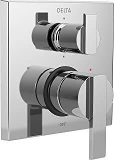 Delta Faucet T24967 Ara Angular Modern Monitor 14 Series Valve Trim with 6-Setting Integrated Diverter, Chrome
