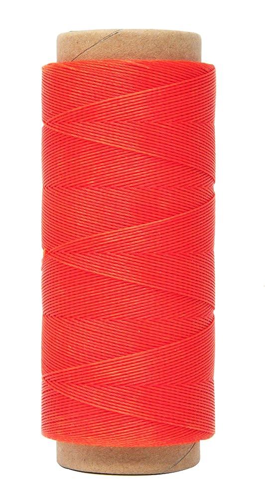 Mandala Crafts 0.45mm Leather Sewing Hand Stitching Jewelry Craft Round Waxed Thread String Cord (0.45mm, Orange)