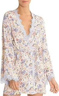 Windflower Floral Print Wrap Robe