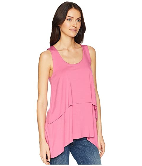 Real For Nice Cheap Online Karen Kane Raw Hem Layered Tank Top Peony Fast Delivery Buy Cheap Shopping Online XzKjb