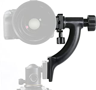 Movo GH400 Carbon Fiber Hybrid Gimbal Tripod Head with Arca-Swiss Quick-Release Plate (for Ball Heads)