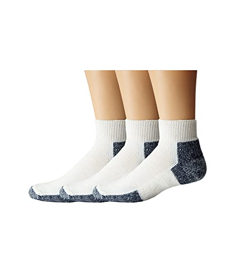 Thorlos Running Mini-Crew 3-Pair Pack White/Navy Running Socks 7289275