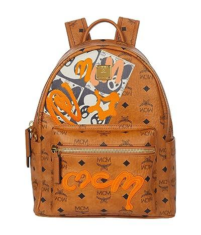 MCM 32 Stark Berlin Bear Backpack (Cognac) Backpack Bags