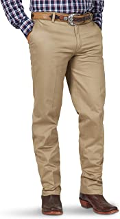 Men's Western Flat Front Relaxed Fit Casual Pant