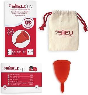 comprar comparacion Copa Menstrual Sileu Cup Classic - Alternativa ecológica y natural a tampones y compresas - Bolsa de regalo - Talla S, Rojo