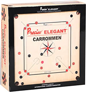 KD Precise Carrom Coins Solid Wood Quality Carromen Tournament Grade Board Accessory Approved & Recognized in International Tournament of Carrom Federation of India, International Carrom Federation