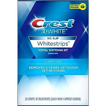 Crest 3D White Whitestrips Classic Vivid Teeth Whitening Kit ( Packaging May Vary )