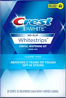 Crest 3D White Whitestrips Classic Vivid Teeth Whitening Kit ( Packaging May Vary )