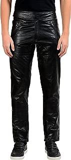 Maison Margiela 10 Black Men's 100% Leather Casual Pants US 30 IT 46