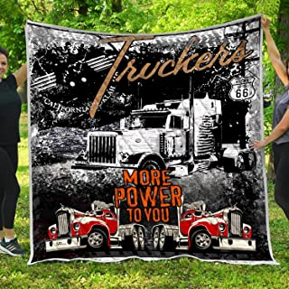 VTH Global Trucker Quilt Blankets Customized Christmas Birthday Wedding Anniversary Engagement Custom Fiancee Gifts from Electrical Journeyman Lineman Husband Fiance