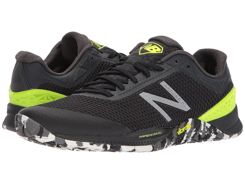 (ニューバランス) New Balance メンズランニングシューズ?スニーカー?靴 MX40v1 Black/Hi-Lite 7 (25cm) EE - Wide