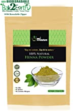 mi nature Rajsthani Henna Powder for hair color red/brown, Lawsonia Inermis, 100% Pure, (227g/(1/2 lb) For Hair Dye/Color in oxo/biodegradable resealable zip lock pouch