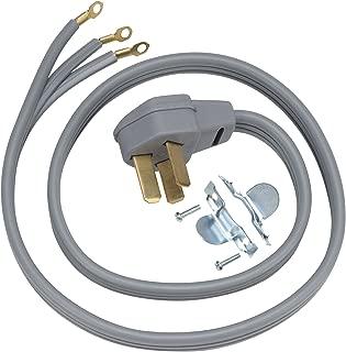 GE WX09X10010 3 Wire 50amp Range Cord, 4-Feet