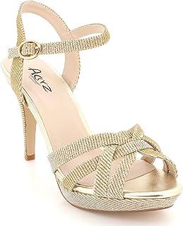 estilo moderno el más baratas 60% de descuento Amazon.es: zapatos dorados fiesta - AARZ LONDON / Sandalias ...