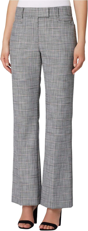 TAHARI Womens Plaid Dress Pants