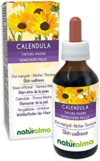 RINGELBLUME Calendula officinalis Blüten Naturalma Urtinktur alkoholfreier | Flüssig-Extrakt tropfen 100 ml | Wohlbefinden der Haut | Nahrungsergänzungsmittel | Veganer