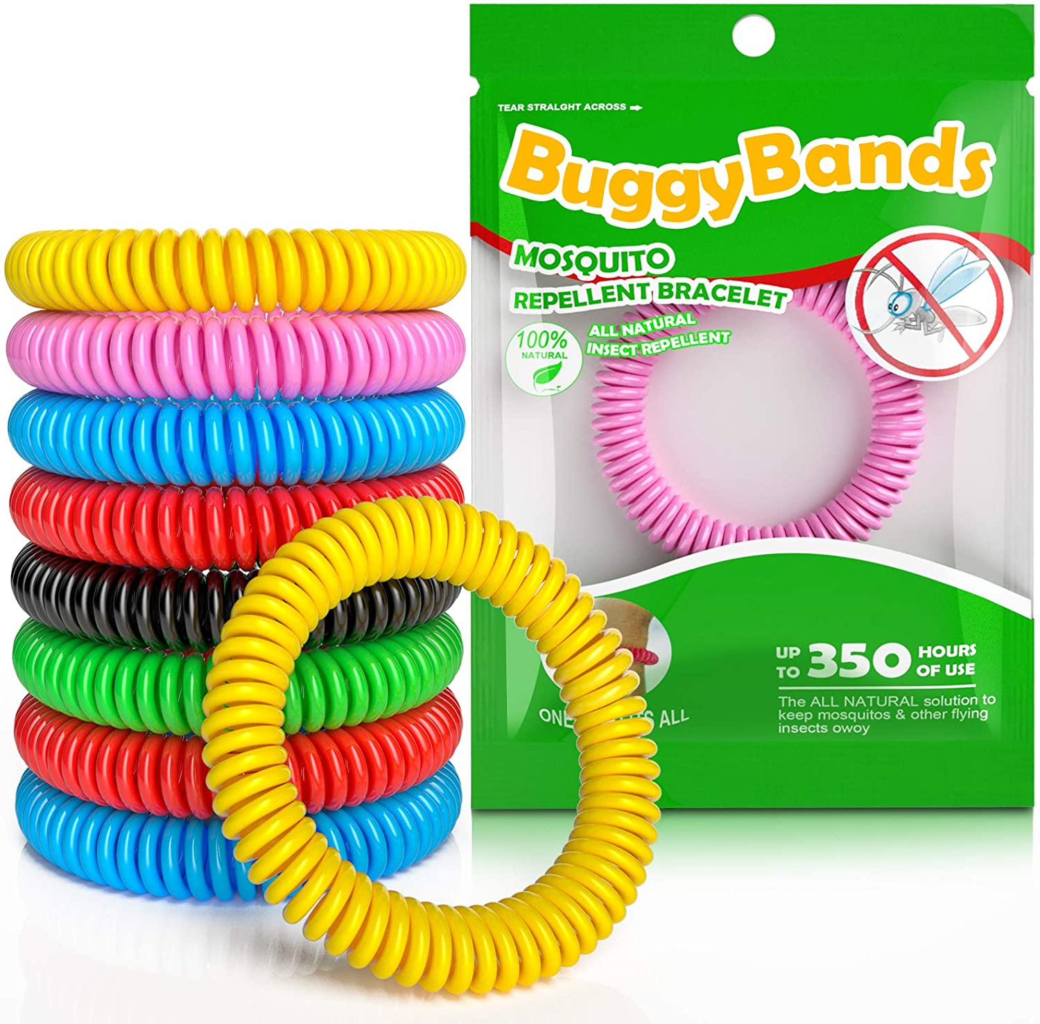 BuggyBands Mosquito Bracelets 48 sold out Wrapped Memphis Mall Pack DEE Individually
