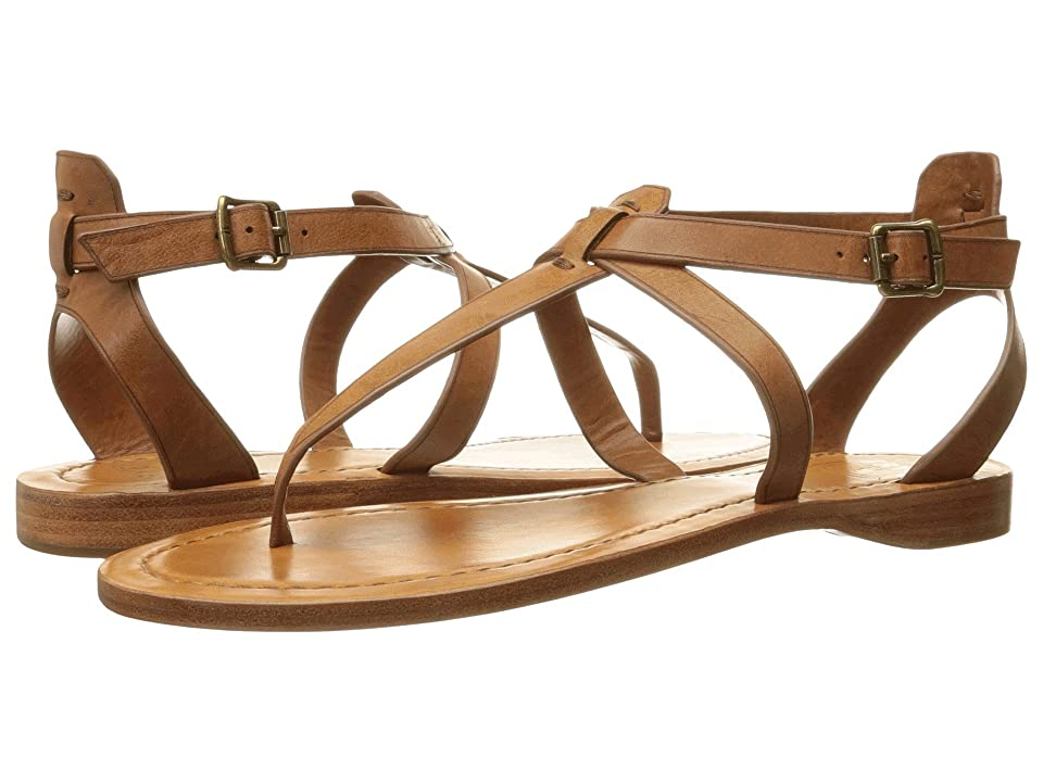 Frye Rachel T Sandal (Cognac Smooth Full Grain) Women