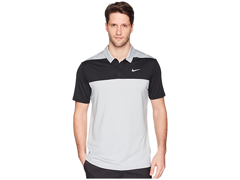 Nike Golf Color Block Dry Polo (Wolf Grey/Black/Flat Silver) Men