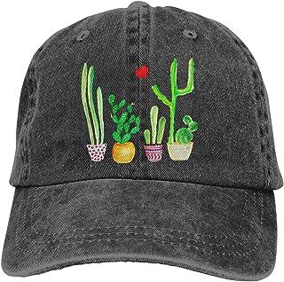 Unisex Truck Baseball Cap,Cacti Cactus Love Artical,Adjustable Cowboy Cap Denim Hat for Women and Men
