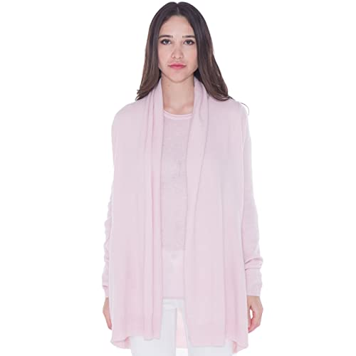e0ec73b17b cashmere 4 U 100% Cashmere Open Front Cardigan Coat for Women