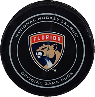 Florida Panthers Game-Used Puck vs. Detroit Red Wings on October 28, 2017 - Fanatics Authentic Certified