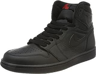 Jordan 555088-022 Men AIR 1 Retro HIGH OG Black University RED