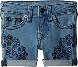 Bobby Embroidered in Daisy Blue (Toddler/Little Kids)