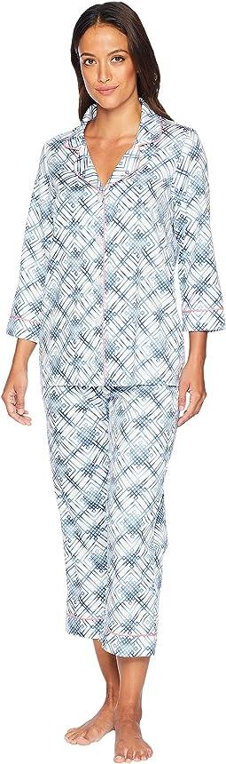 3/4 Sleeve Cropped Pajama Set