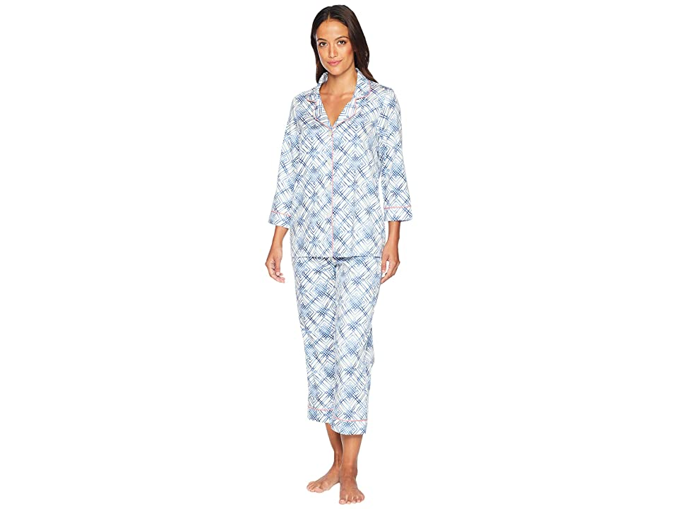 BedHead 3/4 Sleeve Cropped Pajama Set (Cosmic Trellis) Women