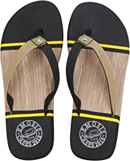 Emosis Men's Flip-Flop Slipper - Latest & Stylish Light Weight Rubber Material - for Casual Outdoor Daily Use Unisex - Multi-Color - 0269M