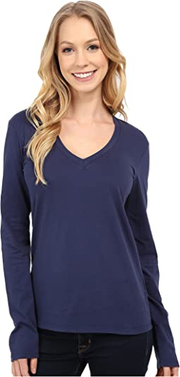 Fitted Long Sleeve V-Neck