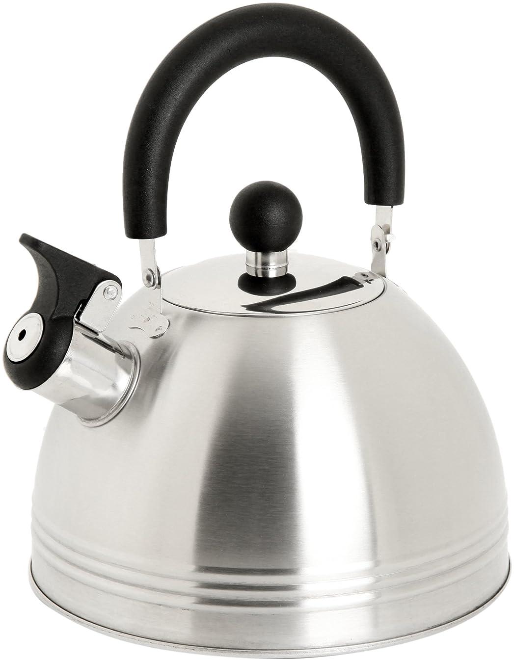 Mr. Coffee 91408.02 Carterton 1.5 Quart Stainless Steel Whistling Tea Kettle, Silver