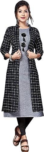 Women S A Line Cotton Kurti With Shrug By Laxmi Creation